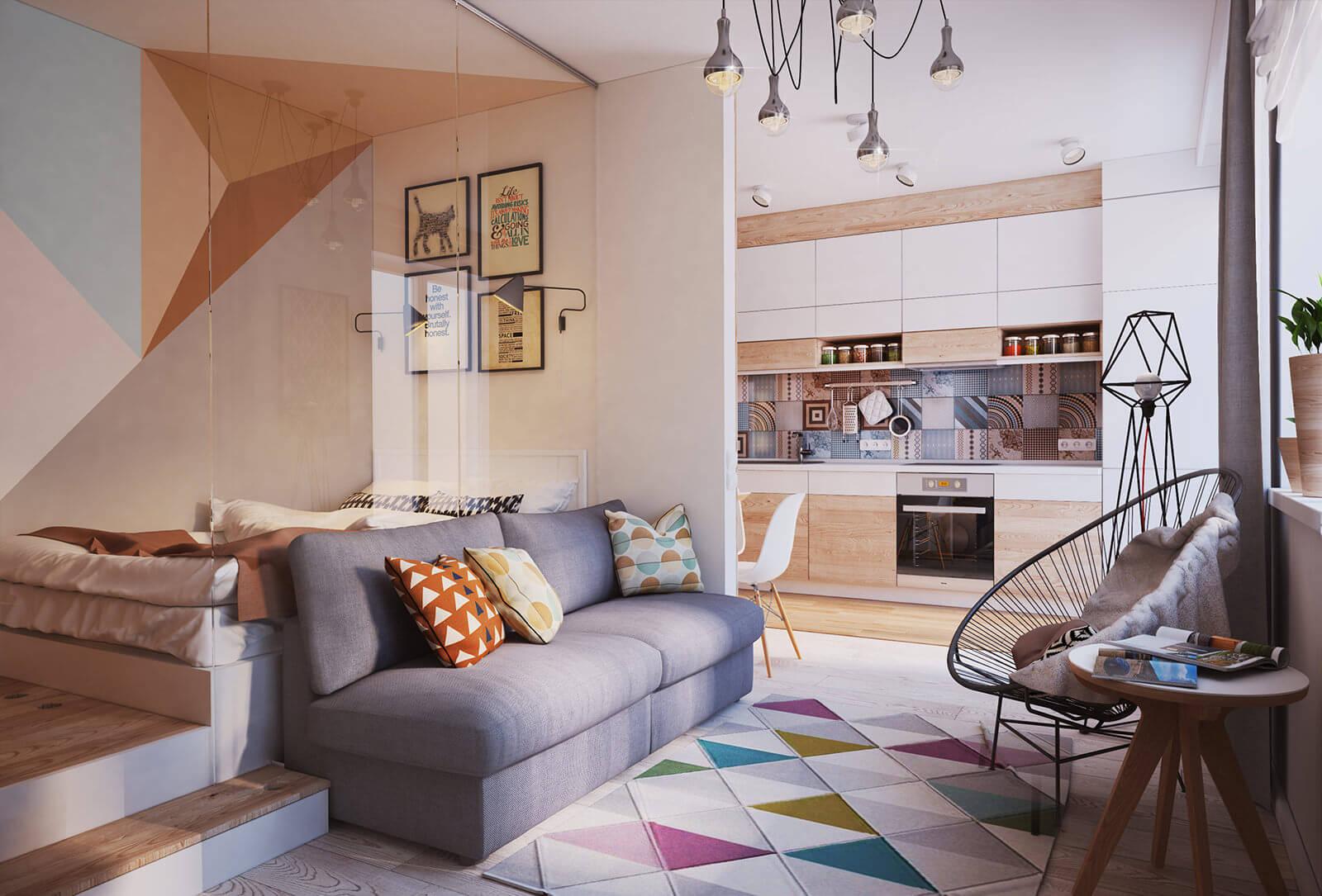 Идеи дизайна маленькой квартиры 2017-2018