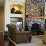 дизайн гостиной с камином фото 5