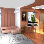 перепланировка однокомнатной квартиры 2