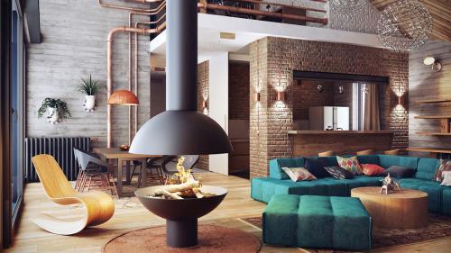 foto stil loft v interere quadro-design 5
